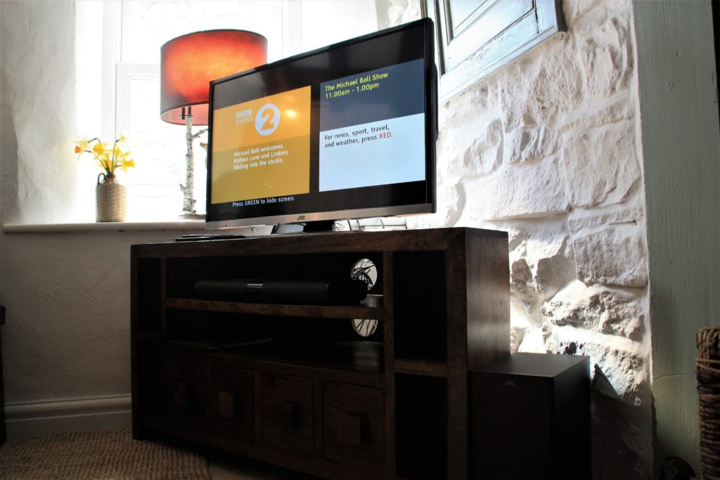 Smart Freeview Play TV and sound bar