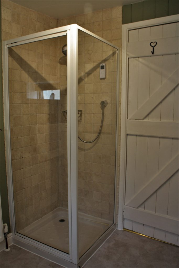 Separate shower